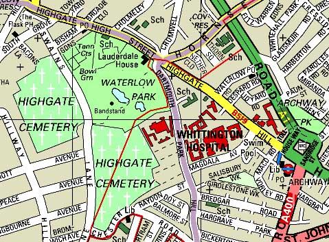 Highgate Cemetery Map highgate cemetery map Highgate Cemetery Map